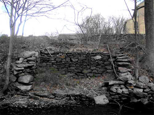 The remains of one of the mills built by Elisha Smith can still be seen today.