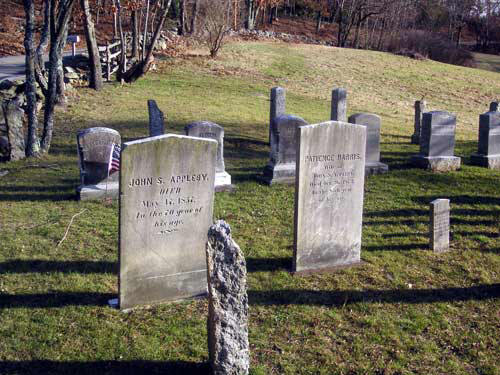 The graves of John S. Appleby and his wife Patience (Harris) Appleby