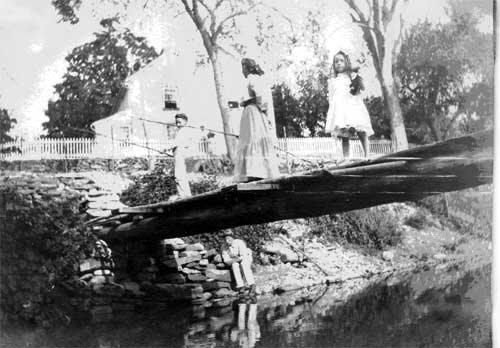 Fishing behind the Smith-Appleby House circa 1910