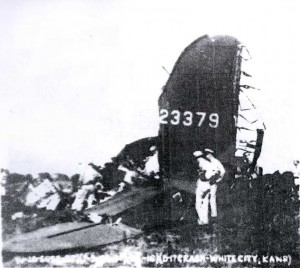 Tail section of Lt. Payette's B-17. U.S. Army Photo