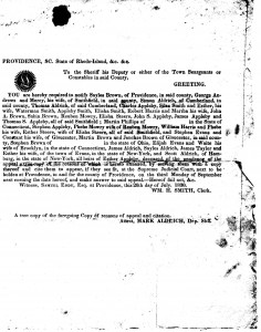 1830 Court Summons