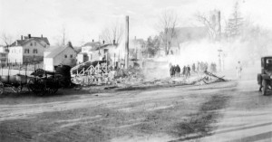 The aftermath of the Greenville fire of January 23, 1924.(Smithfield Fire Dept. Photo)