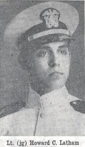 Lieutenant (jg) Howard C. Latham of Esmond served aboard the ill fated USS Escolar during World War II.