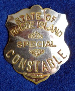 In 1874, the Rhode Island Legislature created a special squad of state police constables to enforce newly enacted prohibition laws.