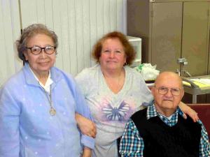 L to R:  Sister Philomena Agudo, Cheryl (DiChiaro) Contillo, and Ernest DiChiaro