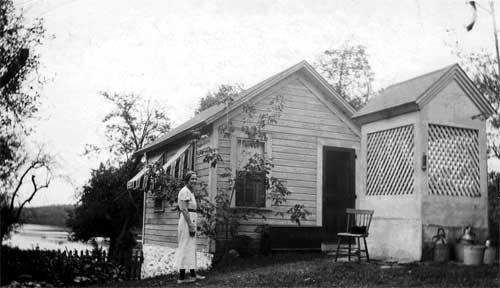 Ernest Rehill continued to live on the property as a caretaker in this building until 2002.  Today it is an office.