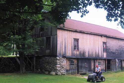 The rear of the barn as it looks today.