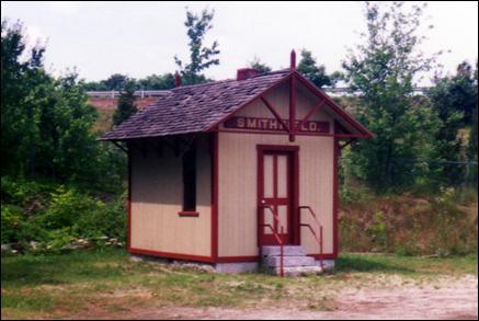 The train station after restoration.