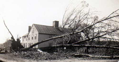 The Smith-Appleby House after the Hurricane of 1938.