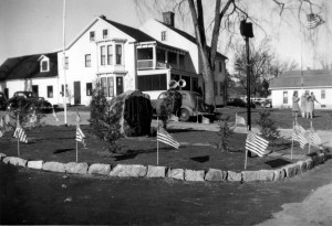 Francis H. Payette Square – December 5, 1943. The Payette family home can be seen in the background.