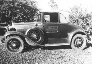 Smithfield's first police car, a Ford Model A