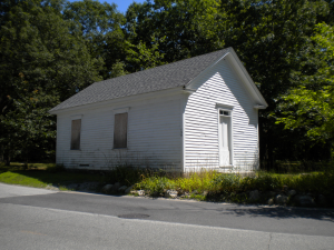 "This school house, built in Smithfield in 1850, was once commonly known as the ""Hot Potato School."""