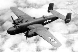B-25 Mitchell bomber. U.S. Air Force Museum photo.