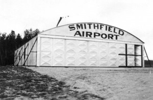 The hangar of the former Smithfield Airport. Photo courtesy of John Emin Jr.