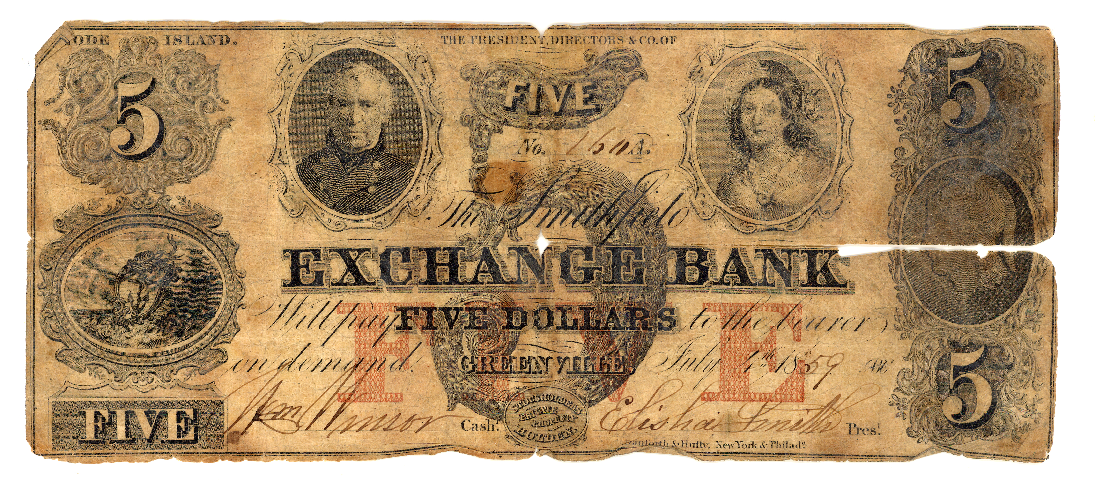 Exchange Bank Greenville R. I. Note